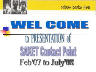 PowerPoint Presentation - Salaam Baalak Trust