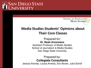 Media Studies Students� Opinions about Their Core Classes