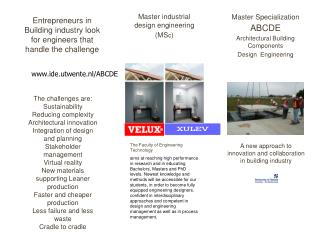 Master Specialization ABCDE Architectural Building Components  Design  Engineering