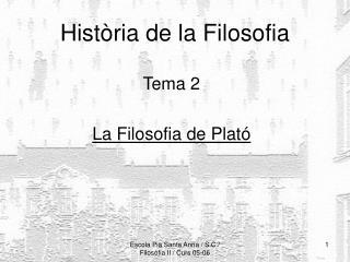 Història  de la Filosofia