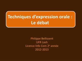 Techniques d'expression orale : Le débat