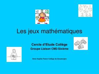 Les jeux math matiques