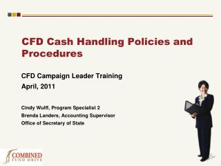 CFD Cash Handling Policies and Procedures