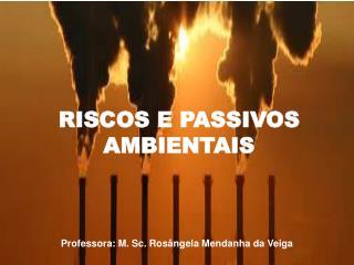 RISCOS E PASSIVOS AMBIENTAIS
