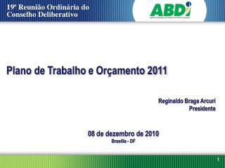 Plano de Trabalho  e Orçamento 2011
