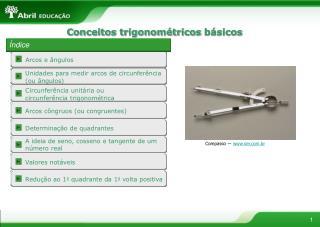 Conceitos trigonométricos  básicos