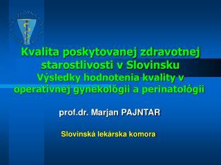 prof.dr. Marjan PAJNTAR