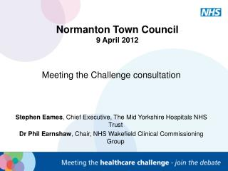 Normanton Town Council 9 April 2012
