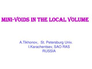 Mini-voids in the Local Volume
