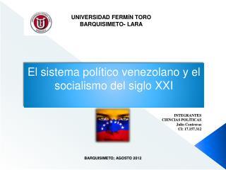 UNIVERSIDAD FERM Í N TORO BARQUISIMETO- LARA