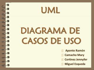 UML DIAGRAMA DE  CASOS DE USO