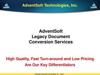 AdventSoft  Legacy Document Conversion Services
