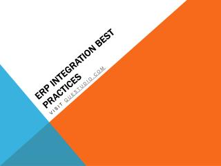 ERP Integration Best Practices