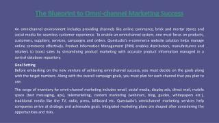 The Blueprint to Omnichannel Marketing Success