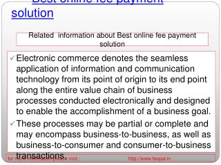 Now you can open a best online fee payment solution