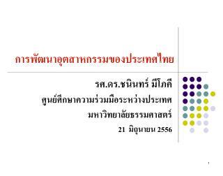 การพัฒนาอุตสาหกรรมของประเทศไทย