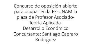 Tema: Desarrollo Extensivo y Poblaci�n, Fuerza de Trabajo y Jornada Laboral