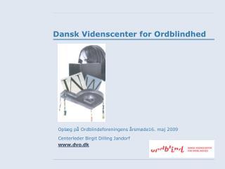Dansk Videnscenter for Ordblindhed