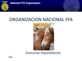 ORGANIZACION NACIONAL FFA