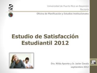 Estudio de Satisfacción Estudiantil 2012