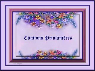 Citations Printanières