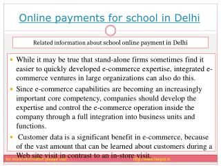 Tips for choosing the best online payment for school in Delh