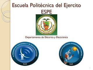 Escuela Politécnica del Ejercito ESPE