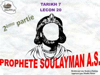 TARIKH 7 LECON 20
