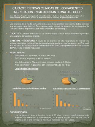 CARACTERÍSTICAS CLÍNICAS DE LOS PACIENTES INGRESADOS EN MEDICINA INTERNA DEL CHOP