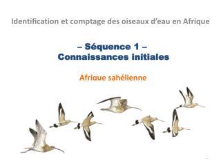 – Séquence 1 –   Connaissances initiales  Afrique sahélienne