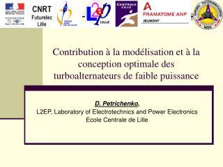 Contribution   la mod lisation et   la conception optimale des turboalternateurs de faible puissance