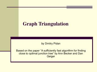 Graph Triangulation