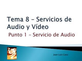 Tema  8 – Servicios de Audio y Vídeo