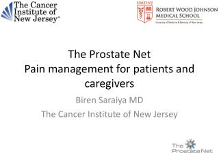 The Prostate Net Pain management for patients and caregivers