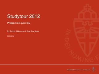 Studytour 2012