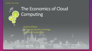 The Economics of Cloud Computing