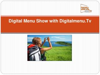 Digital menu displays