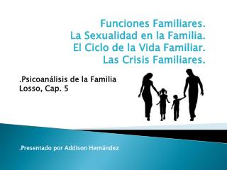 Funciones Familiares. La Sexualidad en la Familia. El Ciclo de la Vida Familiar.