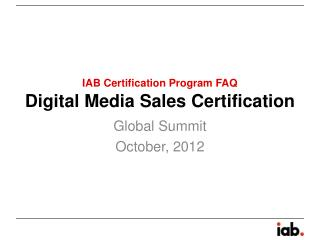 Digital Media Sales Certification