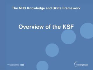The NHS Knowledge and Skills Framework