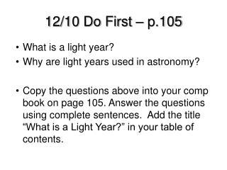 12/10 Do First – p.105