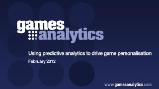 Using predictive analytics to drive game personalisation
