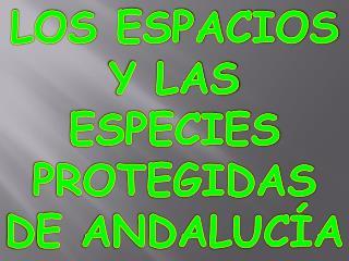 LOS ESPACIOS Y LAS ESPECIES PROTEGIDAS DE ANDALUCÍA