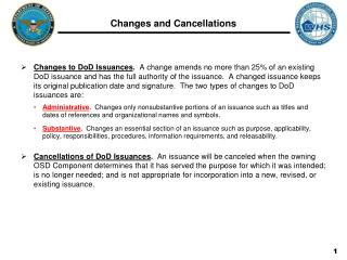 Changes and Cancellations