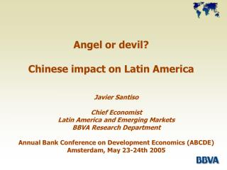 Angel or devil? Chinese impact on Latin America