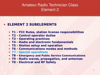 Amateur Radio Technician Class Element 2