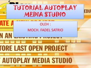 TUTORIAL AUTOPLAY MEDIA STUDIO