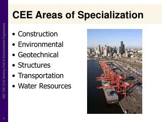 CEE Areas of Specialization