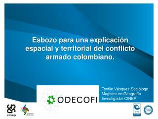 Esbozo para una explicación espacial y territorial del conflicto armado colombiano.