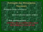 Forma  o das Monarquias Nacionais